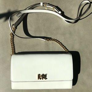 Michael Kors White Leather Crossbody Purse